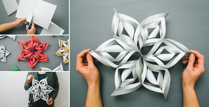 Как да си направим 3D снежинка от хартия