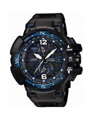 Мъжки спортен часовник Casio G-SHOCK черен със сини детайли