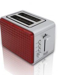 Тостер за хляб ZEPHYR ZP 1440 V, 750W, 2 филийки, Червен