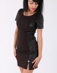 Дамска стилна кафява рокля