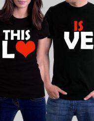 Комплект тениски за влюбени - THIS IS LOVE