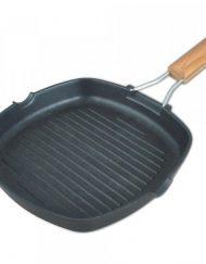 Грил тиган със сгъваема дръжка SAPIR SP 4316 C24, 24 см, Черна