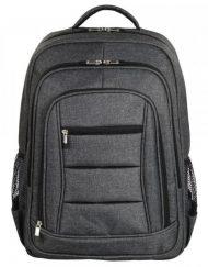 Backpack, HAMA Business 15.6'', с метален цип, Сив (101578)
