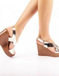 Дамски сандали Emily златисти
