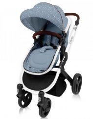 KIKKA BOO Комбинирана количка DOTTY BLUE 31001020035