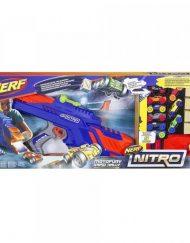 NERF Комплект бластер и количка 9 бр. NITRO C0787