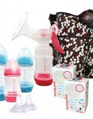 Barbabebe Комплект за кърмене + ПОДАРЪК Чанта за бебе Пролетен цвят на Barbabebe