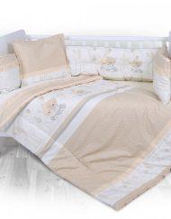 LORELLI CLASSIC Сет Лили от 5 части за легло 60/120 см. ПЪТЕШЕСТВИЕ ЕКРЮ 2080014/2603