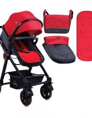 LORELLI PREMIUM Комбинирана количка ALEXA BLACK&RED 1002126/1800