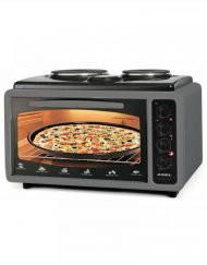 Готварска печка - фурна ASEL AF 4025, 40 л., 3100W, 2 нагряващи плочи, Тави 2 бр, Термостат, Сив