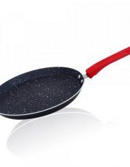 Тиган за палачинки ZEPHYR ZP 4422 F26, 26 см, Мраморно покритие, Черен/червен