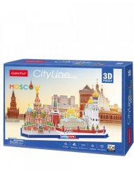 CubicFun 3D Пъзел CITY LINE MOSCOW MC266h