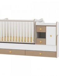 LORELLI CLASSIC Трансформиращо се легло-люлка MINI MAX 190/72 см. Бял/Бук 1015050/0028А