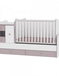LORELLI CLASSIC Трансформиращо се легло-люлка MINI MAX 190/72 см. Бял/Капучино 1015050/0025А