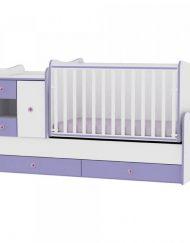 LORELLI CLASSIC Трансформиращо се легло-люлка MINI MAX 190/72 см. Бял/Виолет 1015050/0021А