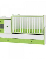 LORELLI CLASSIC Трансформиращо се легло-люлка MINI MAX 190/72 см. Бял/Зелен 1015050/0023А