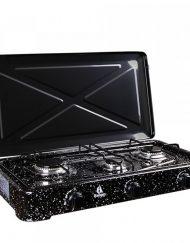 Газов котлон с три горелки BURGAS 103, 4300 W, За употреба на открито, Черен