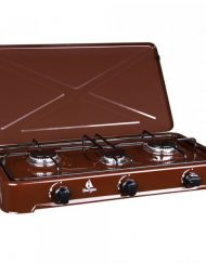 Газов котлон с три горелки BURGAS 103, 4300 W, За употреба на открито, Кафяв