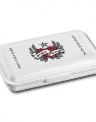 Rock Star Baby Кутия за храна - Сърце с крила - бяла