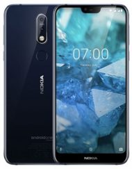 Smartphone, NOKIA 7.1 TA-1095, DualSIM, 5.84'', Arm Octa (1.8G), 4GB RAM, 64GB Storage, Android, Blue