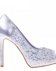 Дамски обувки на ток Idillia сребристи
