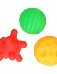 Mom`s Care Бебешки сензорни играчки Веселите топки - прозрачна опаковка, 3 броя/оп.