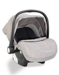 Moni Детско столче-кошничка за кола Veyron Светлосиво