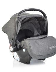 Moni Детско столче-кошничка за кола Veyron Тъмносиво