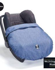 Walking Mum Покривало за крачета за столче за кола, Denim