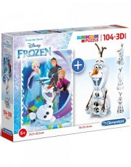 CLEMENTONI Комплект пъзел и 3D фигурка SUPER COLOR FROZEN 20159