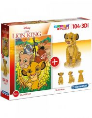 CLEMENTONI Комплект пъзел и 3D фигурка SUPER COLOR LION KING 20158