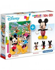 CLEMENTONI Комплект пъзел и 3D фигурка SUPER COLOR MICKEY MOUSE 20157