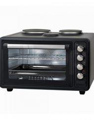 Готварска печка с два котлона ZEPHYR ZP 1441 M40, 40 литра, 3800W, 3 степени на мощност, Черен