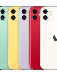 Smartphone, Apple iPhone 11, 6.1'', 64GB Storage, iOS 13, Purple (MWLX2GH/A)
