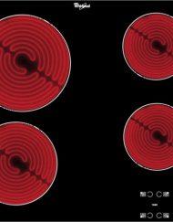 Стъклокерамичен плот за вграждане, Whirlpool AKT8090/NE, 4 нагревателни зони