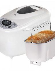РАЗОПАКОВАН - Хлебопекарна с две бъркалки ZEPHYR ZP 1446 A, 850W, 1250 гр, 12 програми, Таймер, Безглутенов хляб, Рецепти