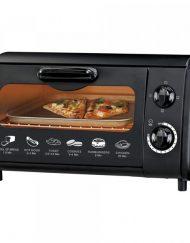 РАЗОПАКОВАН - Тостер за сандвичи - фурна SAPIR SP 1441 P, 600W, 9 литра, Таймер, Тавичка, Черен