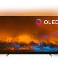 TV LED, Philips 55'', 55OLED804/12, OLED, Smart, Android TV 3-sided Ambilight, 5000PPI, HDR 10+, WiFi, UHD 4K