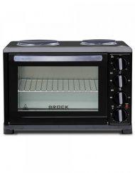 Готварска печка с два котлона BROCK TO 3002 B, 1440W+1500W, Конвекция, 30 литра, Таймер, Клас А, Черен