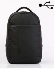"Backpack, Kingsons Smart 15.6"", Charged Series, Black (K9007W)"