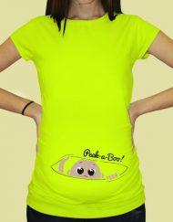 Дамска тениска с щампа за бременни - 47