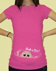 Дамска тениска с щампа за бременни - 58