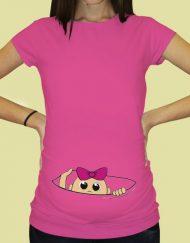 Дамска тениска с щампа за бременни - 59