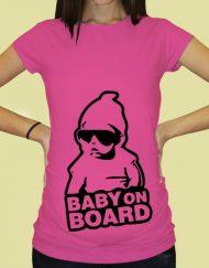 Дамска тениска с щампа за бременни - 60