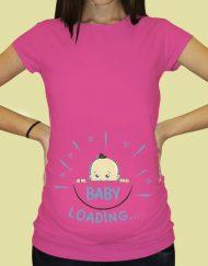 Дамска тениска с щампа за бременни - 61