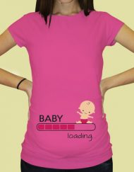 Дамска тениска с щампа за бременни - 65