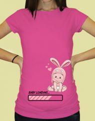 Дамска тениска с щампа за бременни - 66