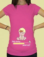 Дамска тениска с щампа за бременни - 67