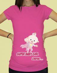 Дамска тениска с щампа за бременни - 68