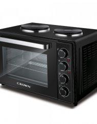 Готварска печка с два котлона CROWN MNH-30B, 30 литра, Фурна 1600 W, до 230 C, Котлони 1600W, Черен